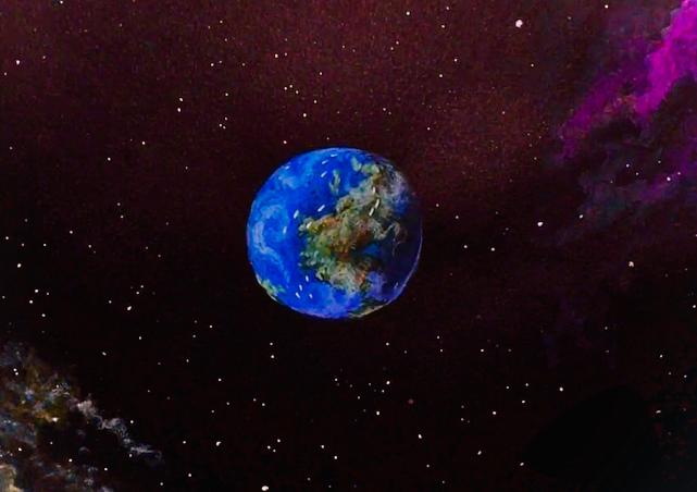 Weltkugelgeschnitten